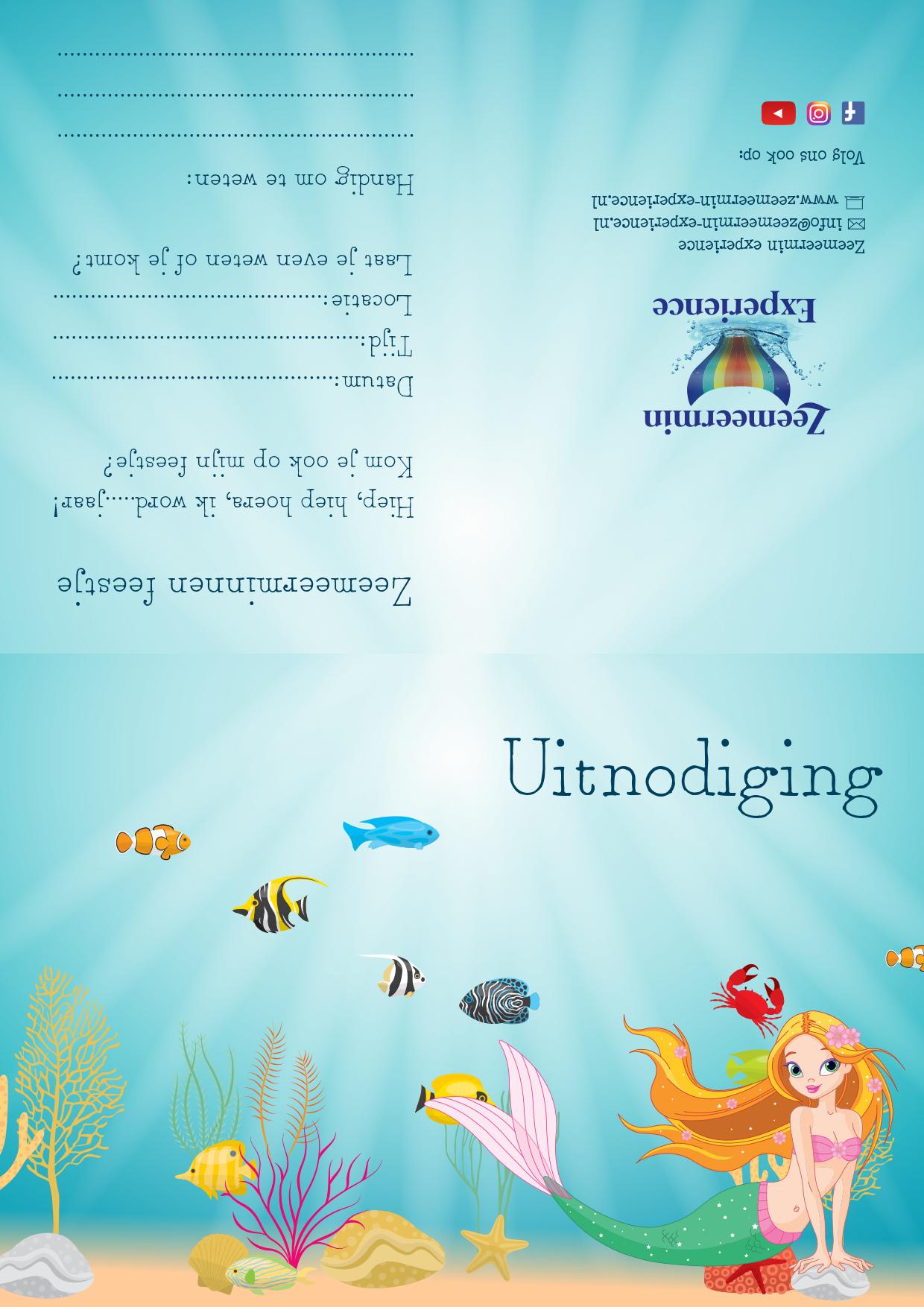 Uitnodiging zeemeerminfeest